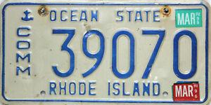 Rhode Island License Piastra, Originale Targa USA 39070 Originalbild