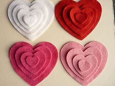 FELT HEART DIE CUT SHAPES FOR APPLIQUE CARD NEEDLECRAFT