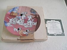 Walt Disney Animated Class Film 101 Dalmatians WATCH DOGS Collector Plate 1st