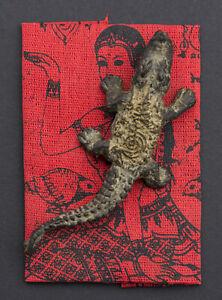 Amulette Thaï Crocodile Nang Kwak LP Pern Wat Bang Phra Bouddha Richesse 1530
