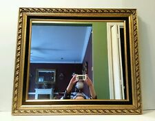 Vintage Wall Hanging Mirror Wood Frame