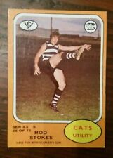 1973 B Scanlens (28) Rod STOKES Geelong ::Near mint card