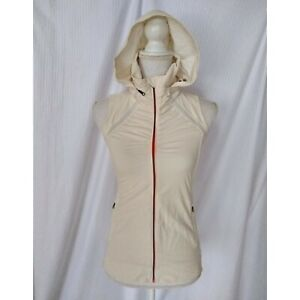 Lululemon Go The Distance Vest Size 2 Packable Hood Angel Wing Cream Colored
