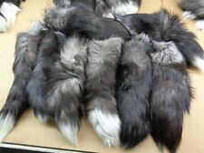 1 XXL Tanned Silver Fox Tail/Crafts/100% USA Real Fur/Purse/Oakland Raider Tail