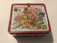 Vintage 1980 Strawberry Shortcake Lunch Box w/ thermos by Aladdin Some Stickers