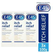 3 x E45 Dermatological Itch Relief Cream Treats Dry,Itchy Skin & Eczema 100g