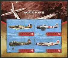 ST. VINCENT CANOUAN  2018 AIRPLANES OF WW II SET OF FOUR SHEETS   MINT NH
