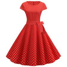 50s Vintage Dress ROCKABILLY Housewife Tea Party Dinner Cocktail Polka Dot Belt