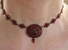 Stunning Antique Victorian Bohemian Garnet set Choker Necklace c1885