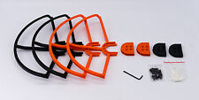 Orange Black Combo x4 Snap On/Off Prop Guards for DJI PHANTOM 3 Pro and Advanced