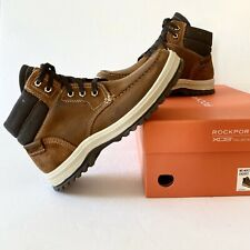 Rockport XCS World Explor Men 9.5 Tan/Brown Leathr MocToe Waterproof Ankle Boot