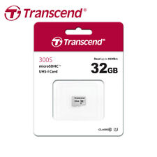 Transcend 300S 32GB micro SDHC C10 UHS-I Memory Card for Smartphones/Tablets
