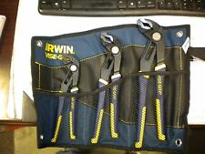 "IRWIN VISE-GRIP GROOVELOCK PLIER SET 8"", 10"" AND 12"" W/POUCH"