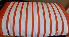 Pottery Barn Marine Stripe Outdoor Lumbar Pillow 16x26 Orange & White