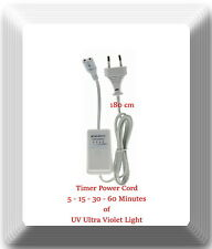 Power Cord W/Timer 5 sec Delay, 5-15-30-60 Minutes T Model UV Ultraviolet Light