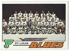 1977-78 TOPPS HOCKEY #85 BLUES CHECKLIST - EXCELLENT+