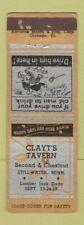Matchbook Cover - Clayt's Tavern Stillwater MN ADVANCE WEAR