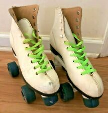 Vintage Roller Skates - Women's Size 8 - White Classic Quad Roller Derby