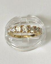 7 Stone Anniversary Ring 14k Yellow Gold And Cz