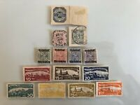 GERMANY Wurttemberg EARLY ESTATE COLLECTION LOT MIXED SET OF 14 STAMPS OVERPRINT