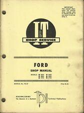 I&T FORD 8000 8600 8700 9000 9600 9700 No. FO-37 Tractor Shop Manual