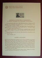 1956  ITALIA  Bollettino Postale N° 22 Amedeo Avogadro