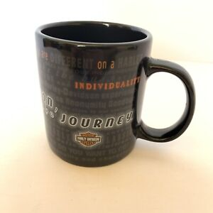 Harley Davidson Coffee Tea Mug Black Its Not the Destination Its the Journey