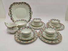 More details for vintage aynsley dainty roses 3258 tea set trio cake plate waste bowl jug