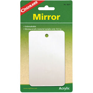 Coghlan's Featherweight Mirror, Unbreakable Acrylic Material, Emergency Survival