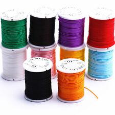 10 Rolls 1mm Chinese Knotting Jewelry Nylon Cord Thread Bracelet Beading String