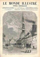 Port d'Odessa retour Troupes de San Stefano du Général Radietzki GRAVURE 1878