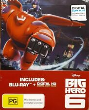 Disney - Big Hero 6 (Blu-ray, Limited Steelbook Edition, 2015, New Sealed)