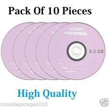 Pack Of 10 Pieces National  Dual Double Layer Blank DVD +R 8.5GB High Quality