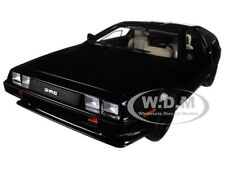 DELOREAN DMC 12 METALLIC BLACK 1:18 MODEL CAR BY AUTOART 79917
