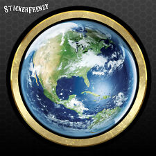 Round Earth sticker - Vinyl decal - hippy tree hugger friendly design car bumper
