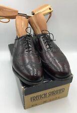 French Shriner Sterling Wingtip Cordovan Investor Dress Shoes Burgundy 10D