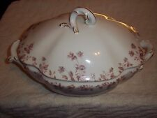 "Vintage Porcelain Dinnerware Soup Tureen & Lid 13"" Long X 8"" Wide"