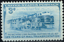 US Railroad 125 Ann Locomotives Trains stamp 1952 MNH