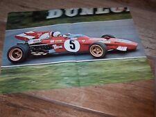 Poster double page d'époque Clay Regazzoni FERRARI 1971 Race of Champions     //
