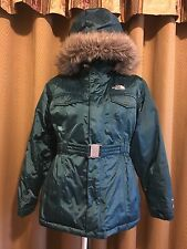 The North face Hyvent 550 down Winter Jacket Parka Teal Womens Size Small Medium