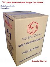 5 X 100L MOVING BOXES REMOVALIST PACKAGE DEAL!