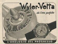 W0718 Wiler Vetta l'orologio del progresso - Pubblicità 1943 - Advertising