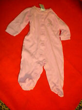 Baby Pajamas / Sleepers Pink, Baby Connection. 6-9 Months,100% cotton
