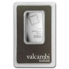 1 oz Valcambi Platinum Bar in Assay Card
