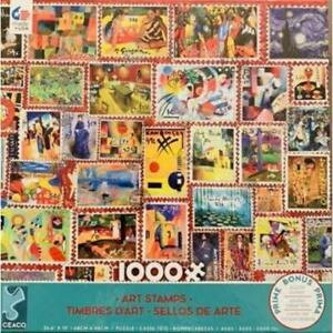 Ceaco Puzzle Stamps - Art Stamps New