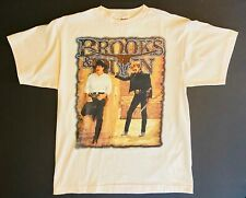 Vintage 1996 Brooks & Dunn Borderline Tour Large Tulsa Tee's Concert T Shirt