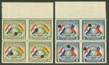 Paraguay 1945 Flags proof blocks imperf vertically
