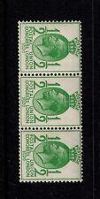 1929 norma 1/2d deriva Filigrana UM striscia di 3 SG434a