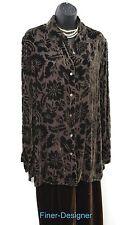 Valerie Stevens evening pant Suit Pants SZ S Set 2 Pc blouse velvet burnout SZ 8