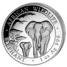 2015 Somalia  Elephant 1 oz  999 Silver Coin with light spot